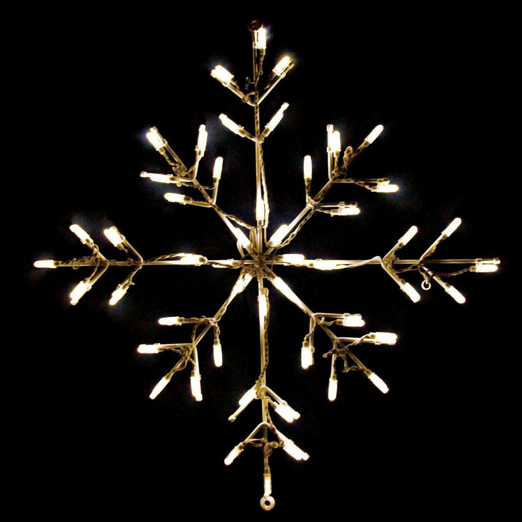 White-snowflake-lighted