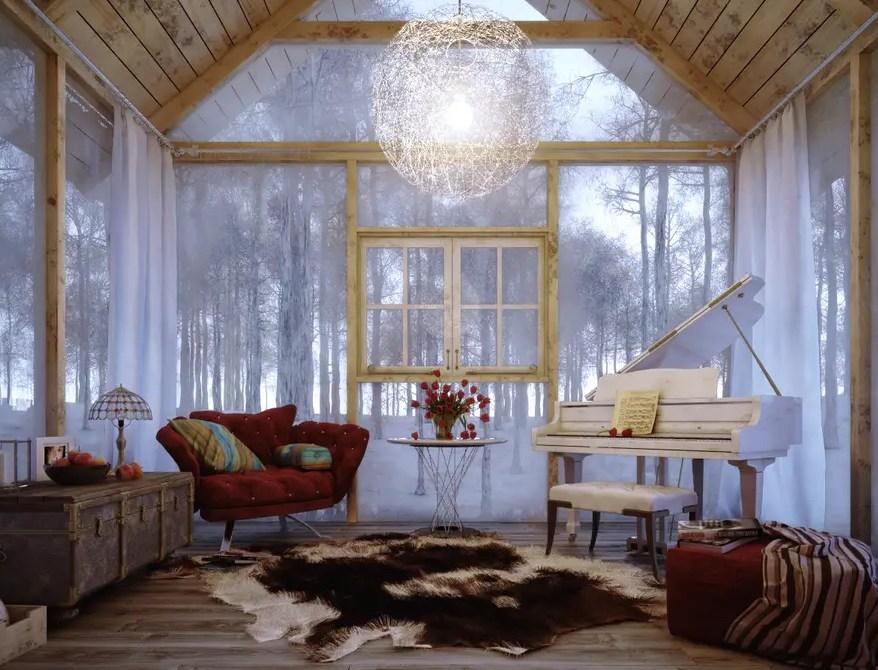 Glazed-walls