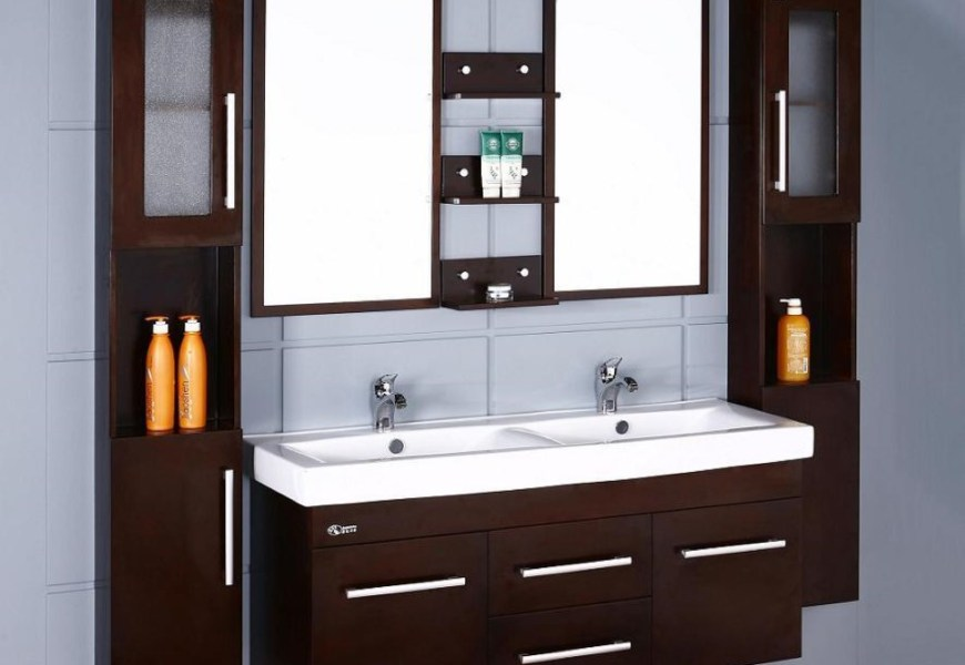 2-light-blue-tile-wall-for-cool-espresso-bathroom-sink-cabinets-over-laminate-floor-ideas-1