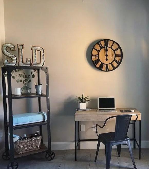 Farmhouse-home-office-wall-clock