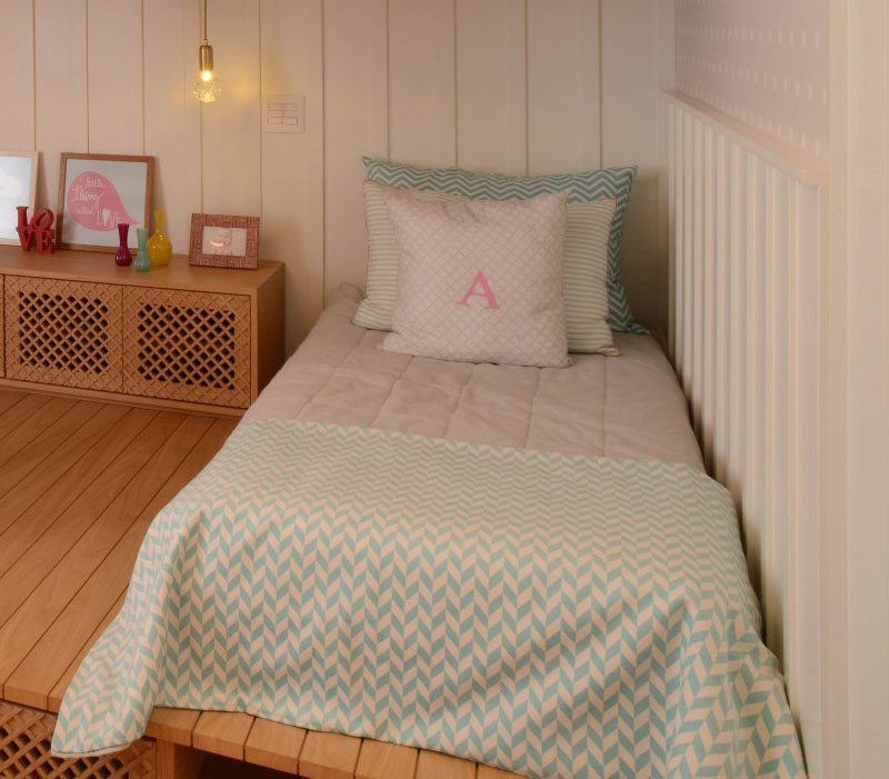 Beautiful bedroom for girls featuring a lofted playspace for both fun and rest 3
