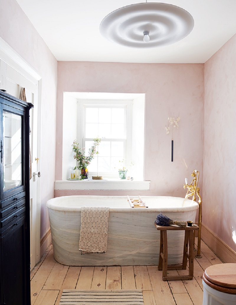 Blush morning bathroom Energizing Bathroom Style Ideas To Make You Want to Have An Earlier Shower