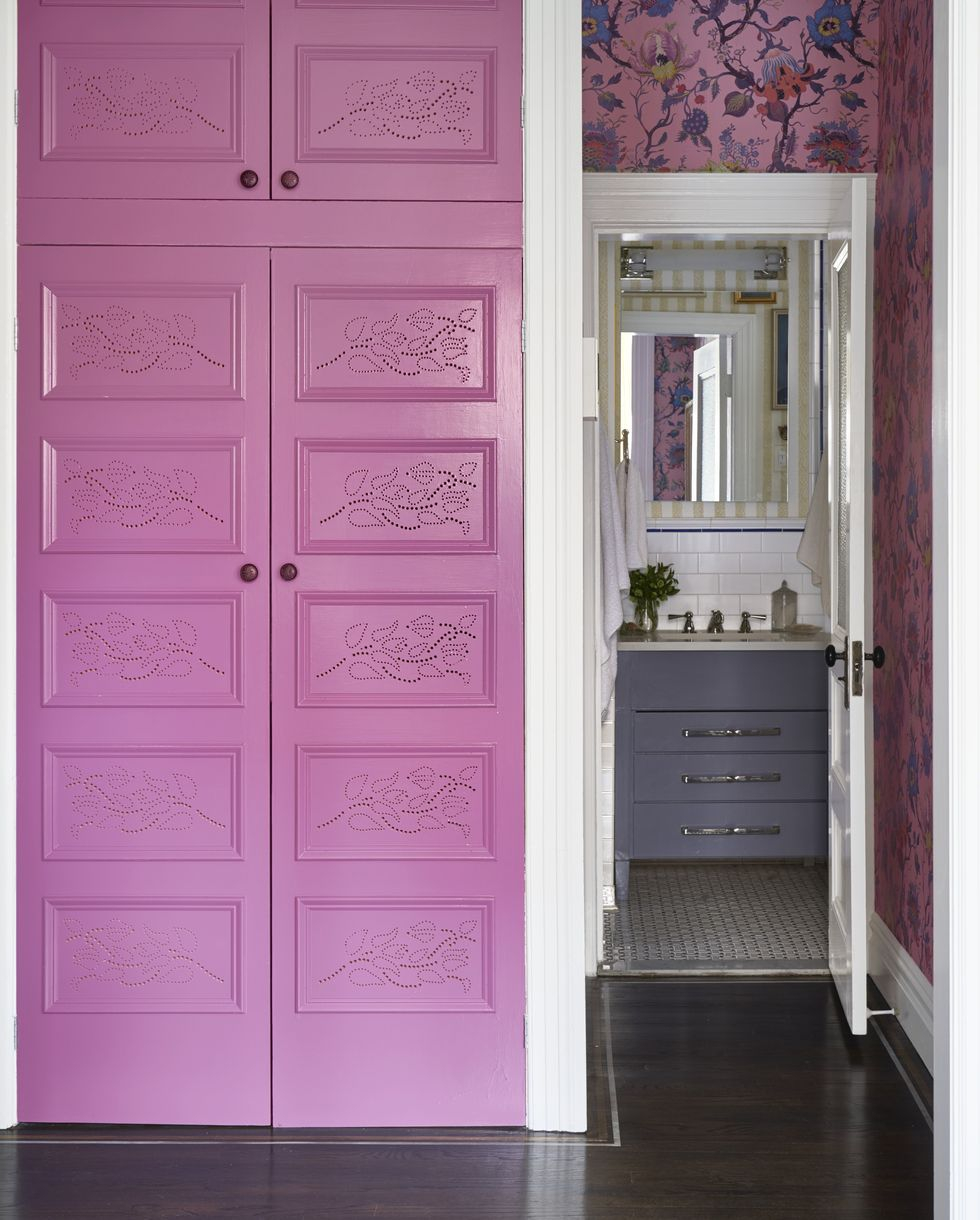 Punchy purple Vitalizing Half Bathroom Ideas That Refreshing Your Half Space In A Right Way