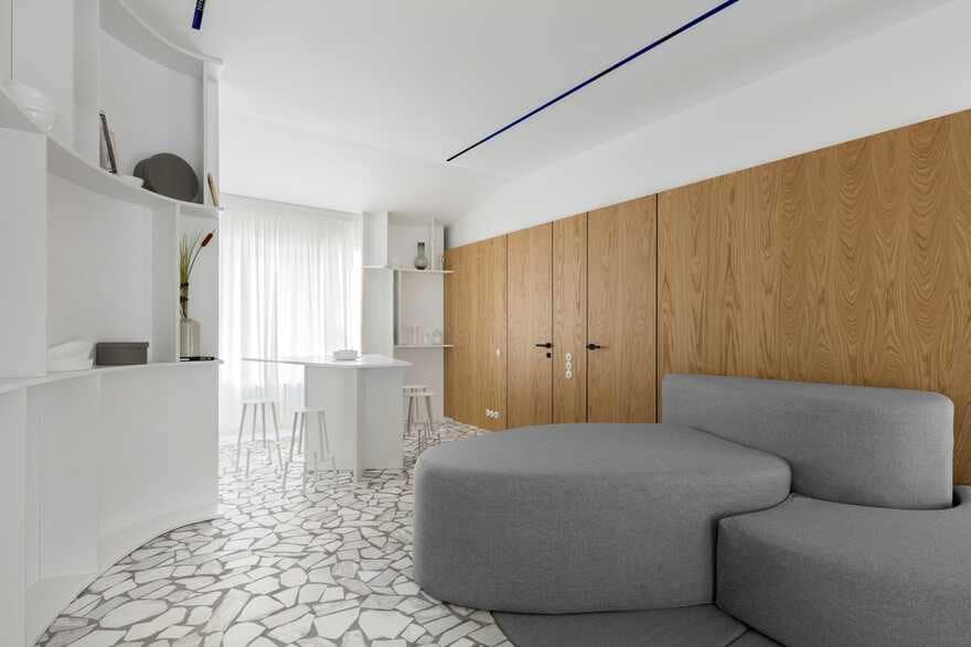Interior design of a townhouse for a young family with two children 2