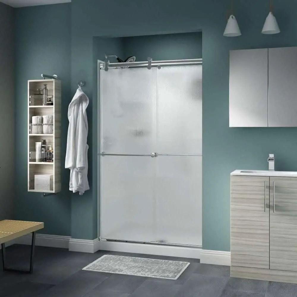 Powder room privacy Splashing Rain Glass Design To Show A Charming Rainfall For Home Interior Ideas
