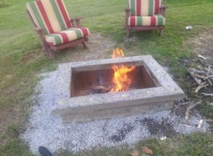 Diy-fire-pit-with-custom-capstone.