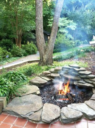 Stacked-rocks-to-create-a-fire-pit