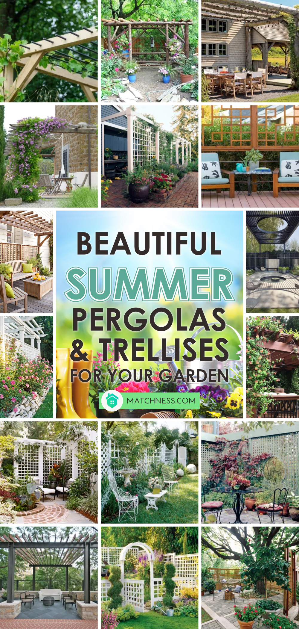 Beautiful summer pergolas and trellises for your garden 1