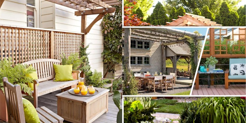 Beautiful summer pergolas and trellises for your garden fi