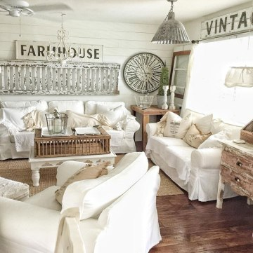 2-gorgeous-country-farmhouse-living-room-with-white-decor