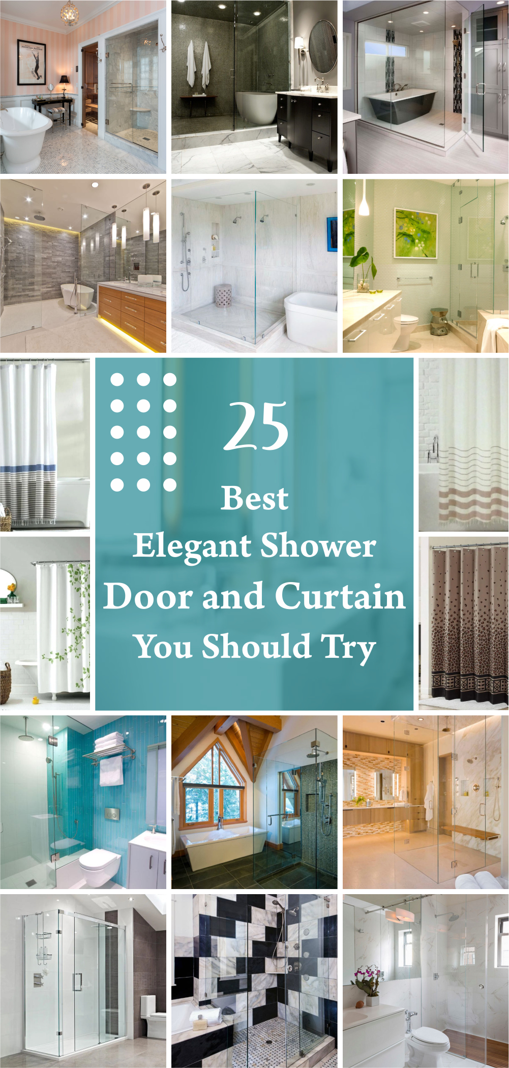 25 best elegant shower door and curtain you should try 1