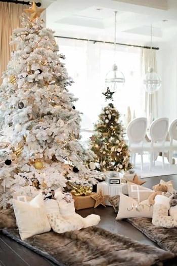 White-christmas-tree-decorating-ideas-20-1-kindesign