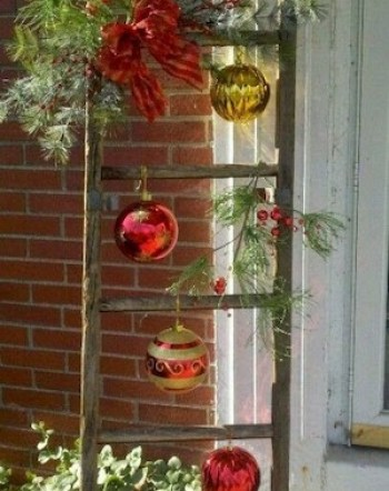 Christmas-ladder-with-glass-ornaments-280489883022736186