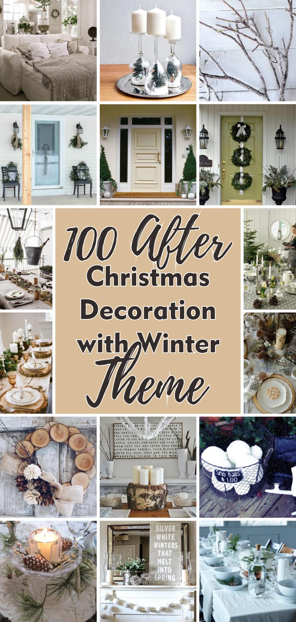 100 after christmas decoration with winter theme 1