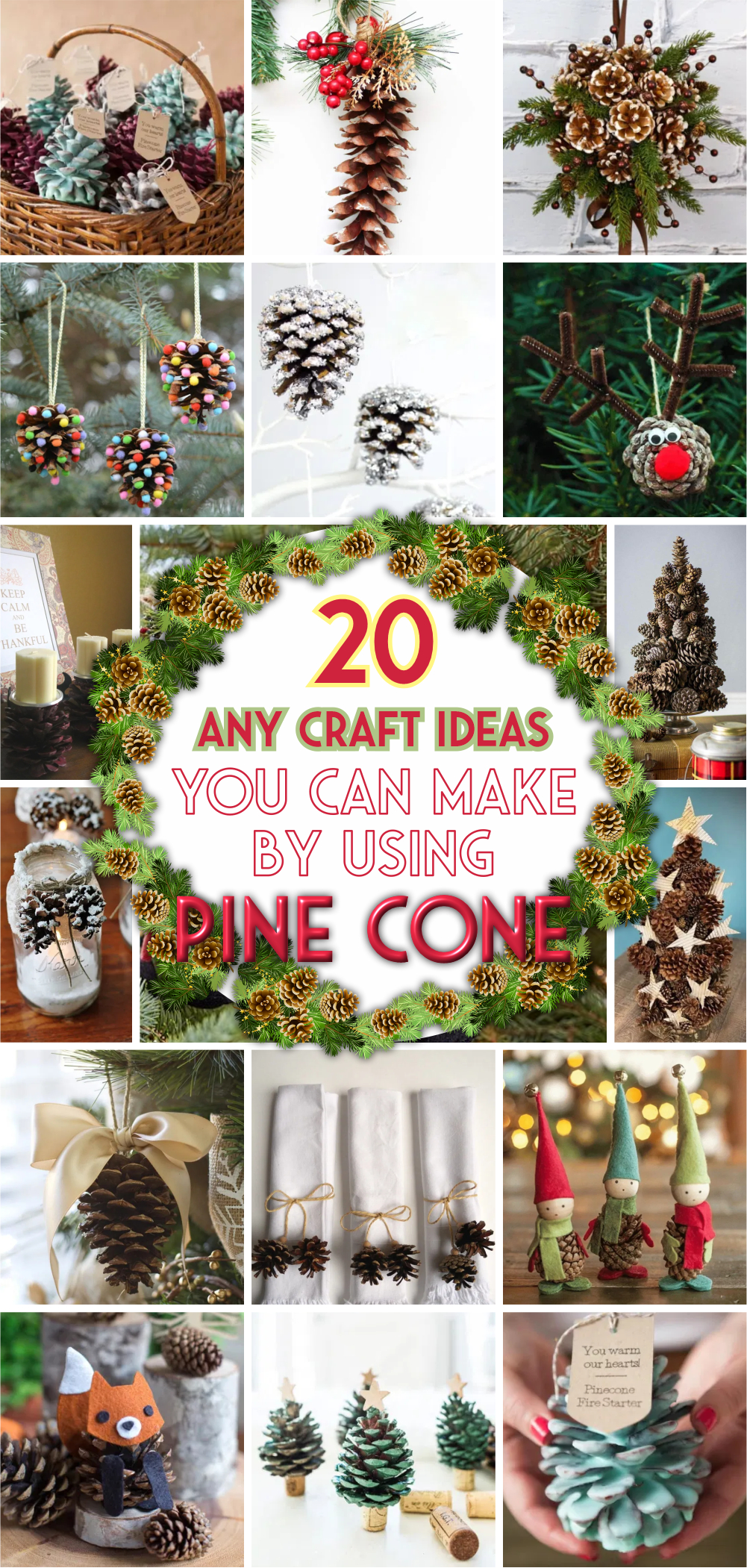 20 any craft ideas you can make by using pine cone 1
