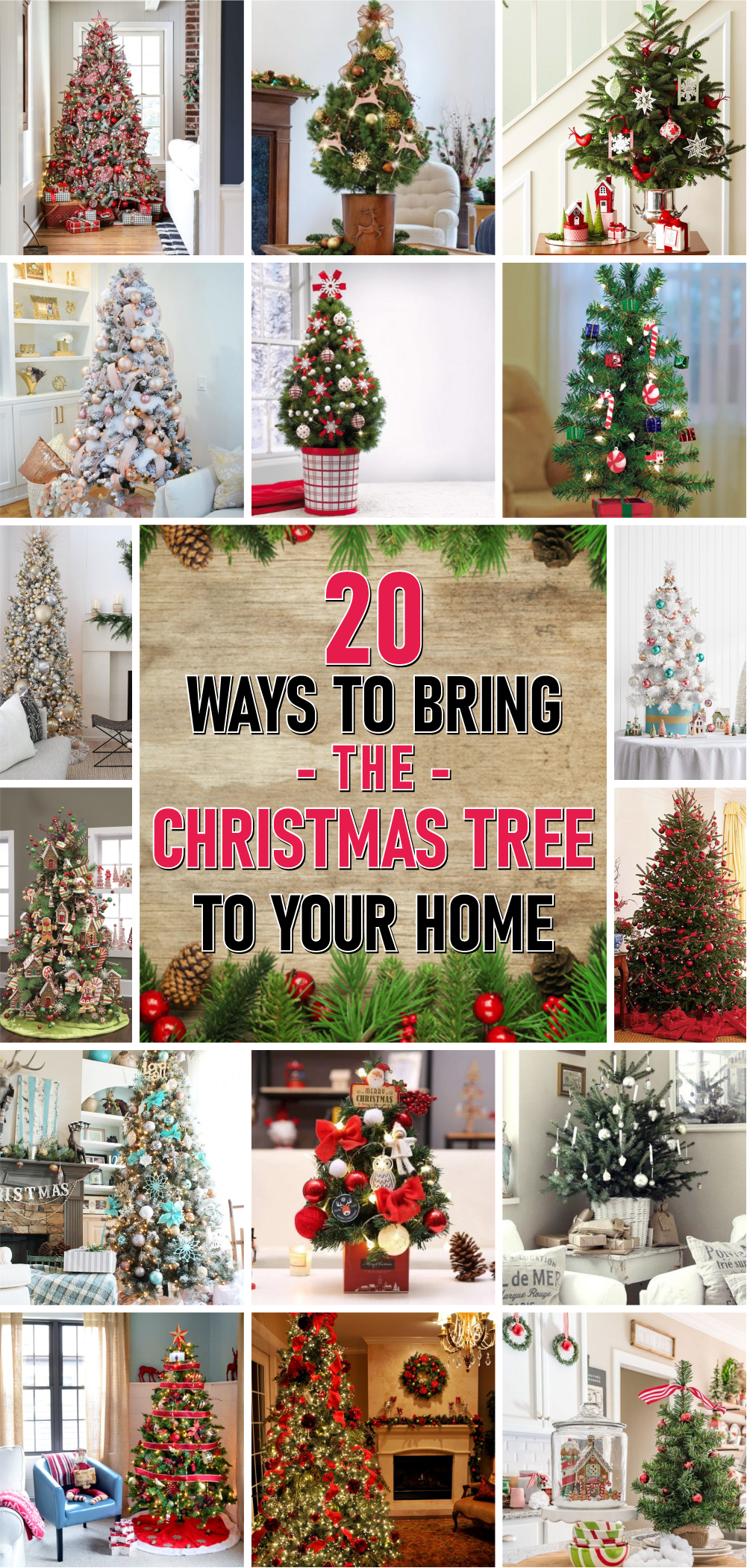 20 ways to bring the christmas tree to your home 1