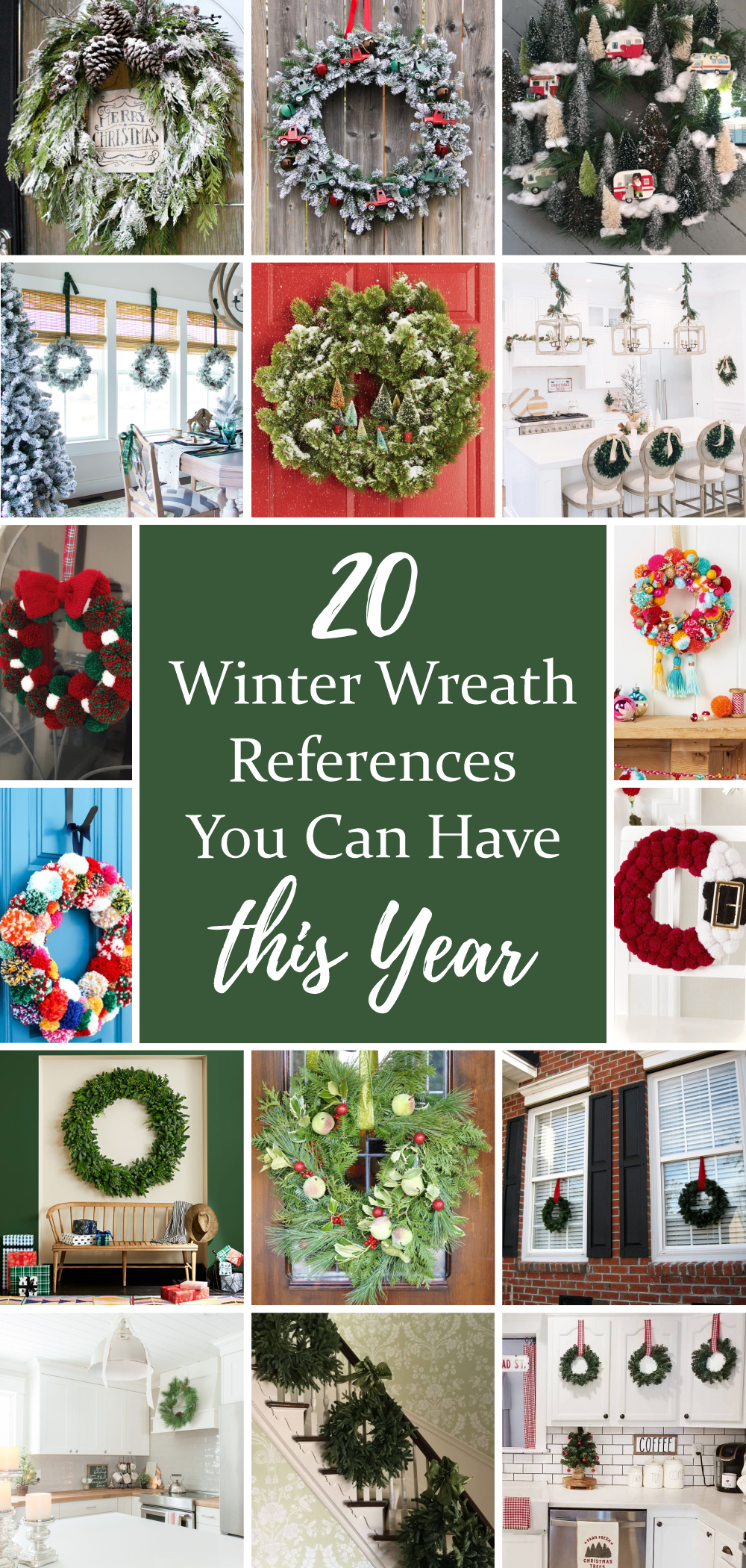 20 winter wreath references you can have this year xx
