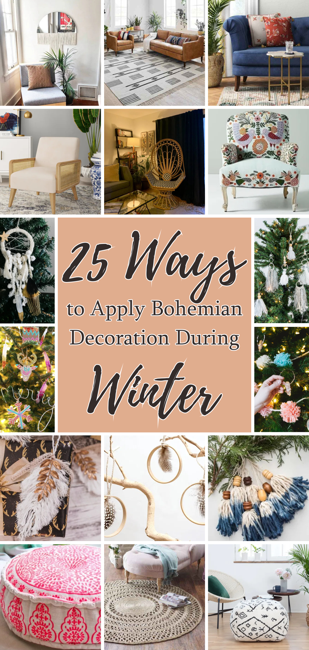 25 ways to apply bohemian decoration during winter 1