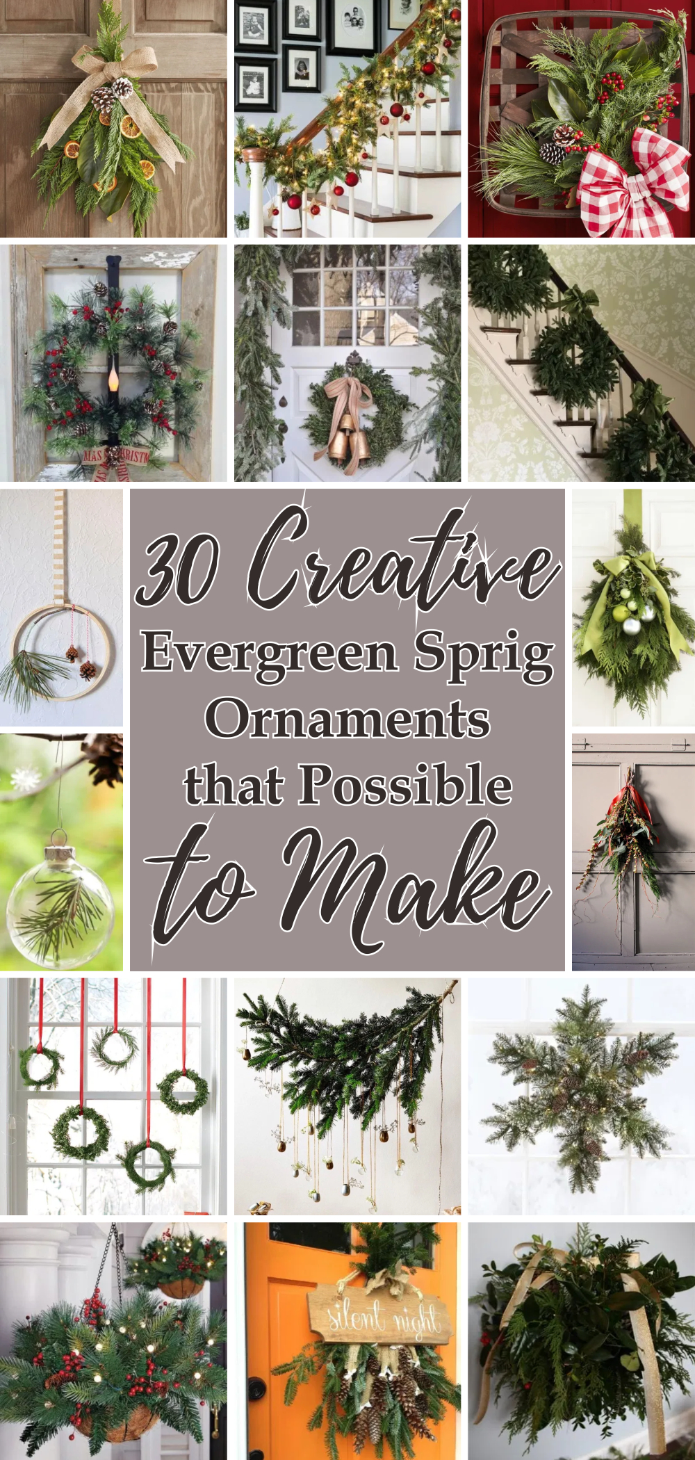 30 creative evergreen sprig ornaments that possible to make 1