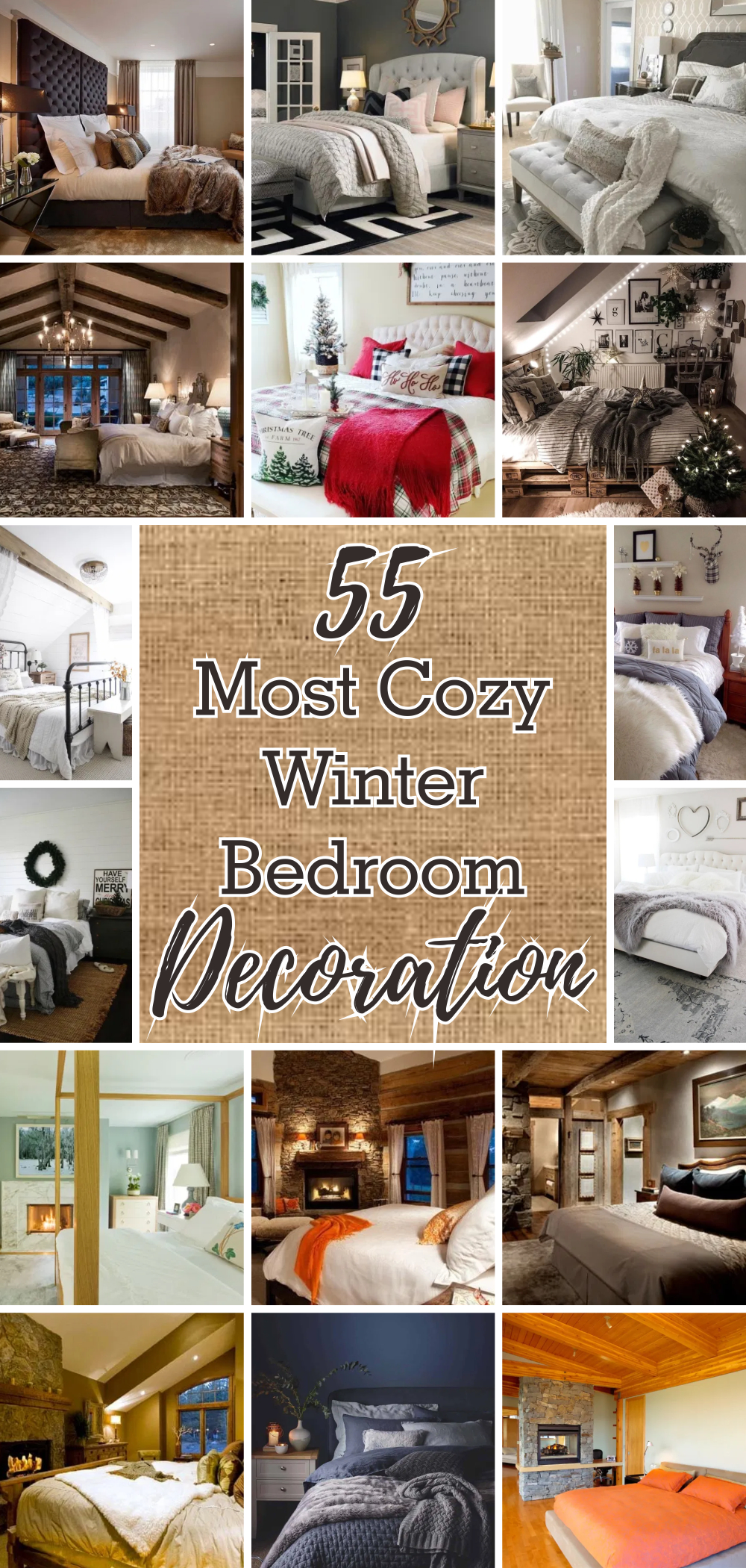 55 most cozy winter bedroom decoration 1