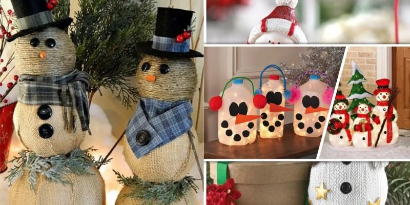 Cute snowmen ornaments for your christmas home decor