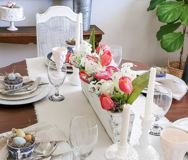 Easter spring table decor-8