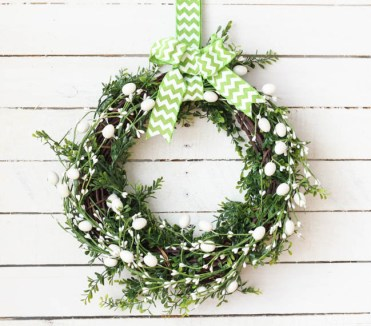 Five-minute-dollar-store-diy-spring-easter-wreath