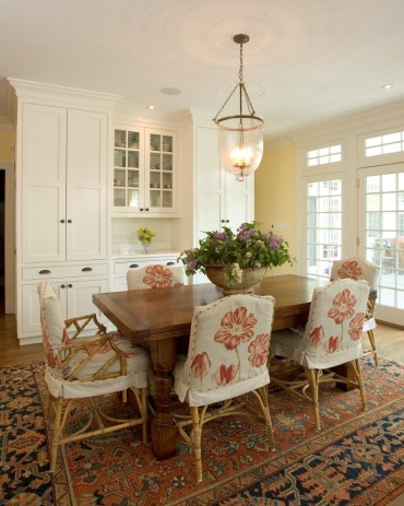 Good-looking-sure-fit-slipcovers-in-dining-room-traditional-with-dining-room-chair-rail-next-to-painting-rooms-with-cathedral-ceilings-alongside-bamboo-furniture-andwall-painting-patterns-