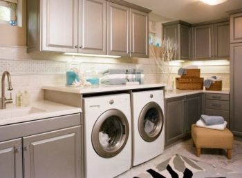Laundry-room-cabinets-with-pre-finished-metallic-doors