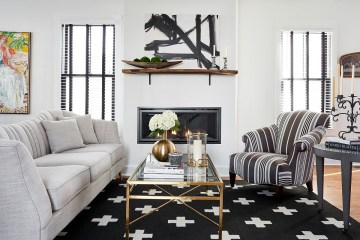 Rug-in-black-along-with-striped-club-chair-add-contrast-to-the-white-living-room-51343
