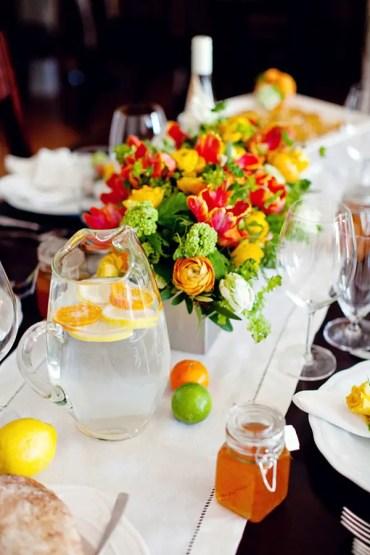 Citrus-theme-table-setting