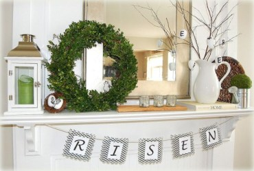 Green-wreath-mantel-for-easter