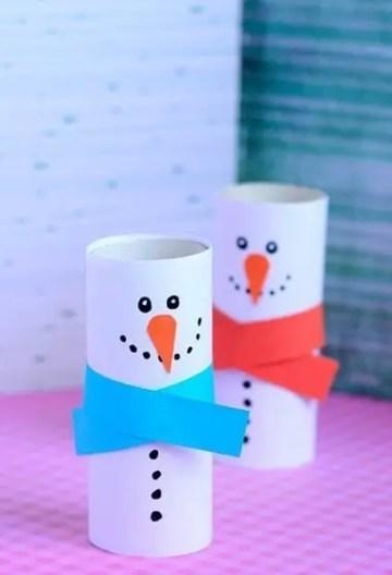 Paper-roll-snowman-craft