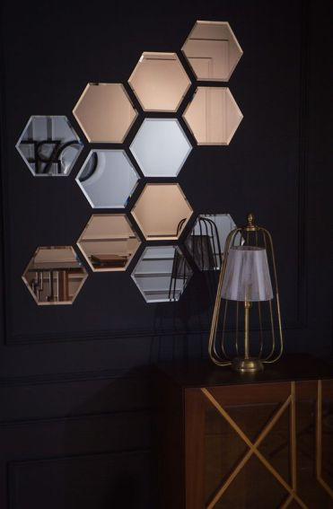 03-an-arrangement-of-silver-and-copper-hexagon-mirrors-will-make-any-blank-wall-stand-out