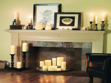 2-candles-decoration-ideas-for-fireplace