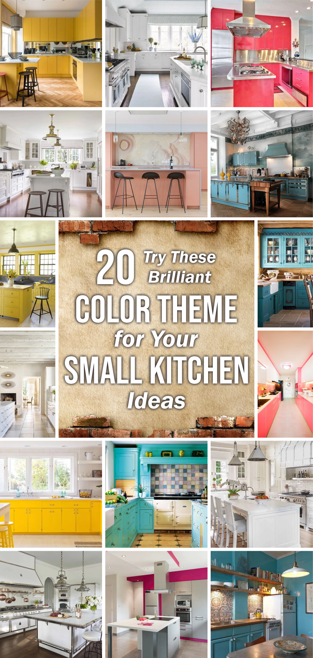 20 try these brilliant color theme for you small kitchen ideas 1