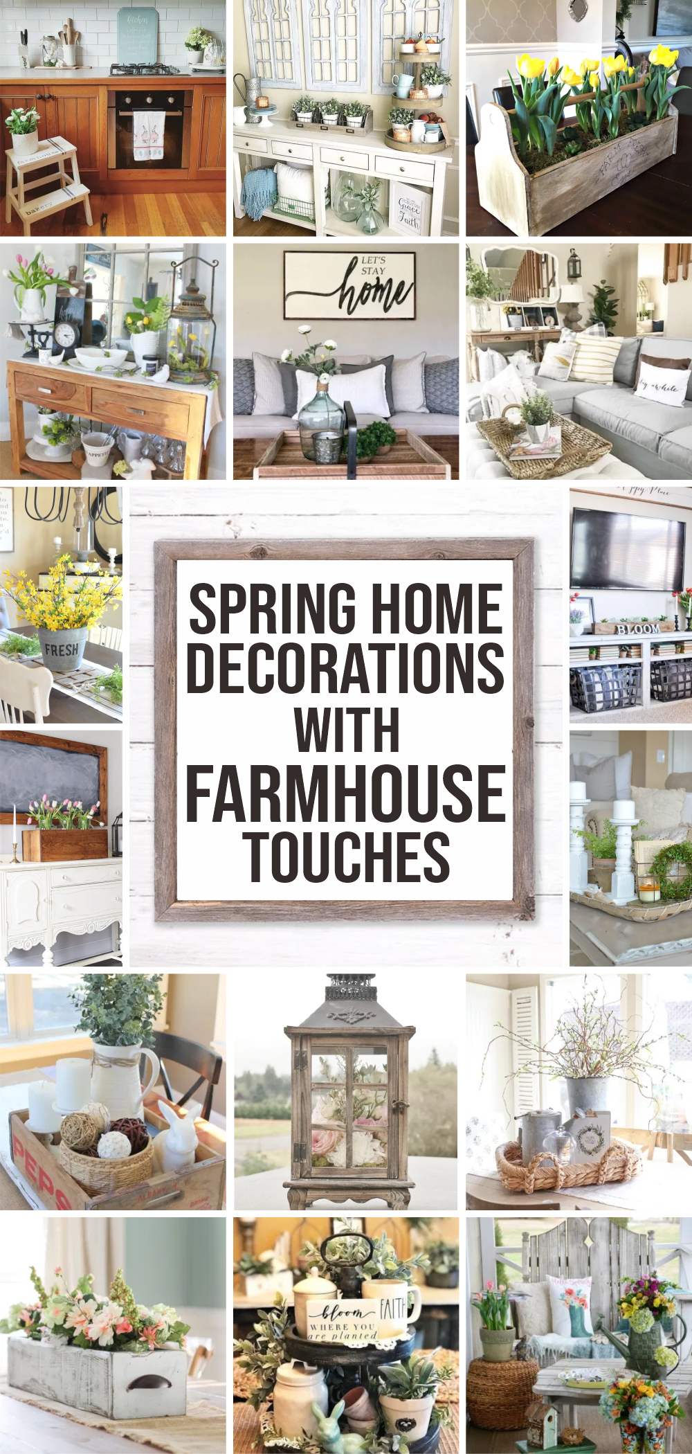 30 spring home decorations with farmhouse touches 1