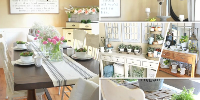 30 spring home decorations with farmhouse touches fi