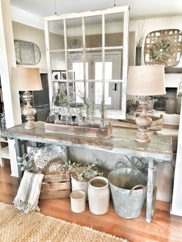 4-07-a-rustic-patina-console-table-some-crates-for-storage-and-some-buckets