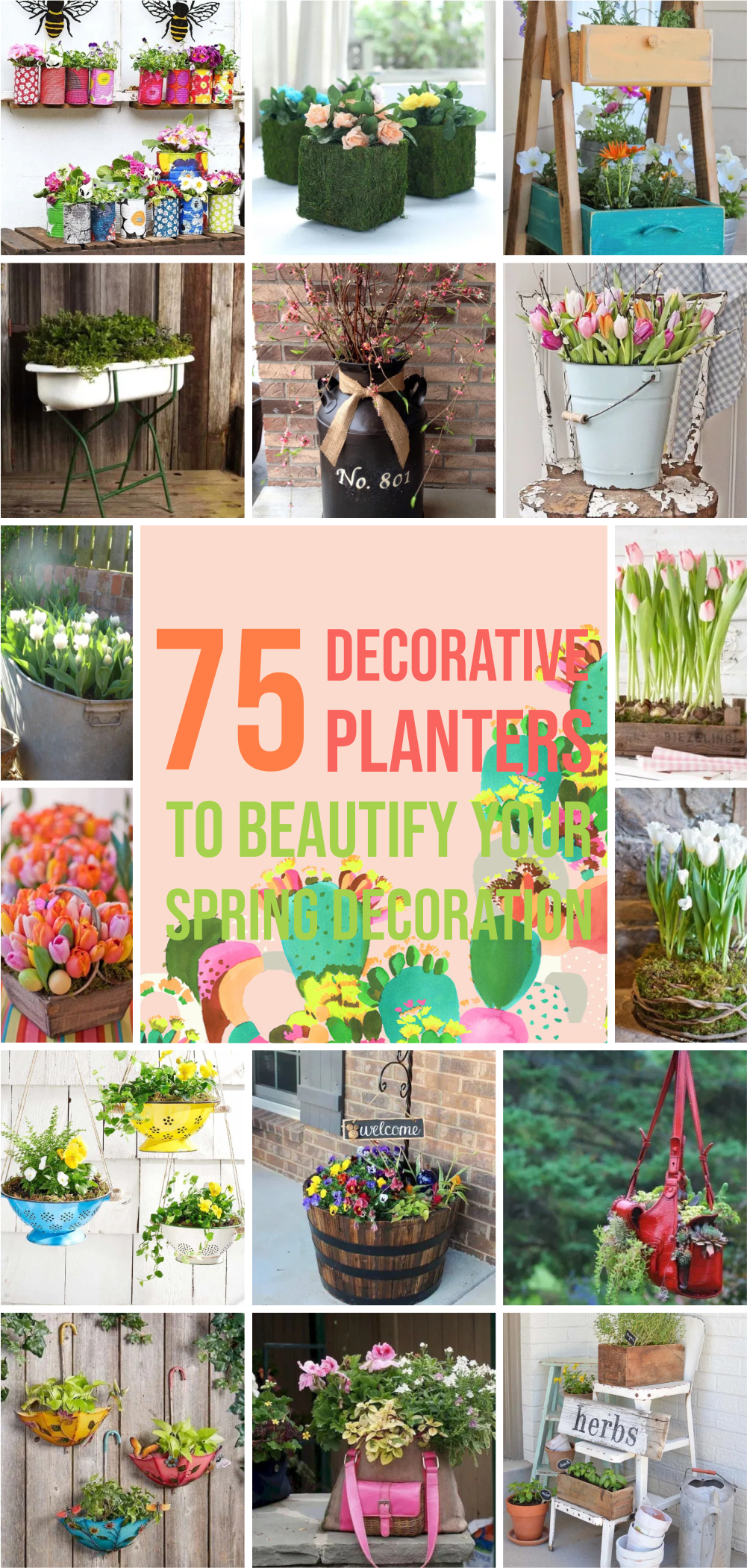 75 decorative planters to beautify your spring decoration 1