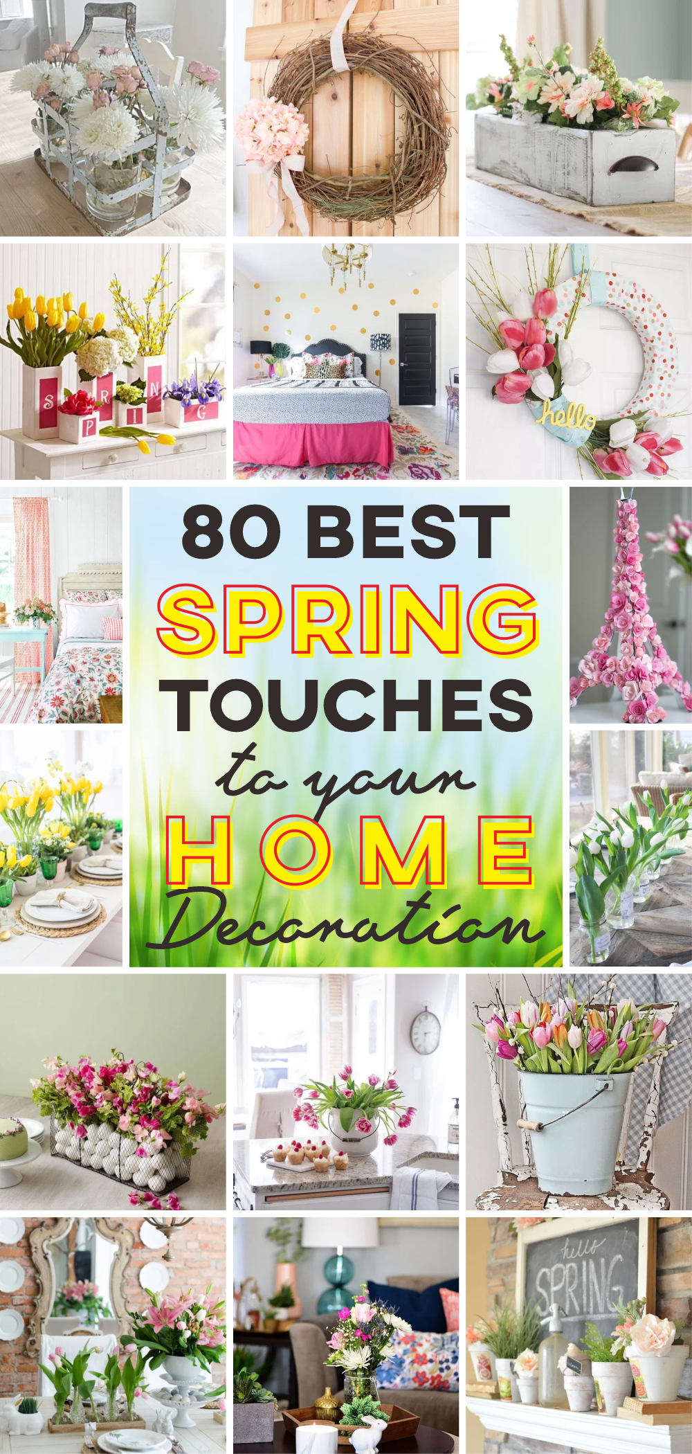80 best spring touches to your home decoration 1