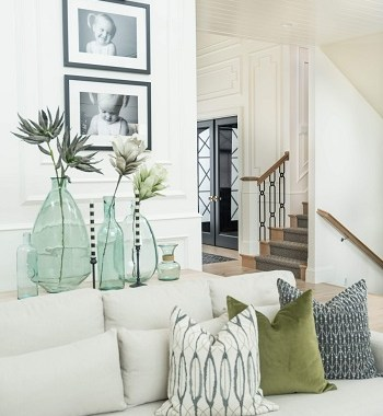 Beautiful spring home decor with faux and fresh greens that anyone will love 2