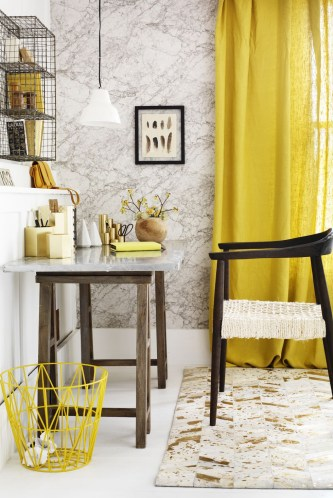 Bright yellow working space