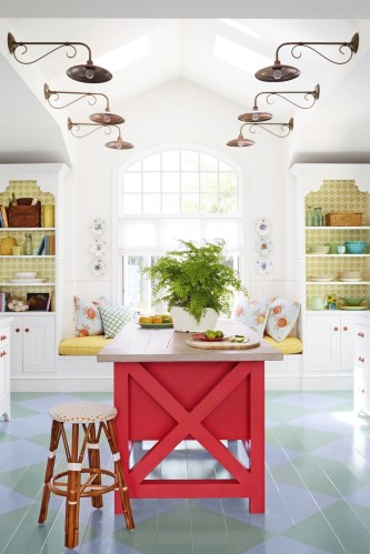 Colorful kitchen for spring