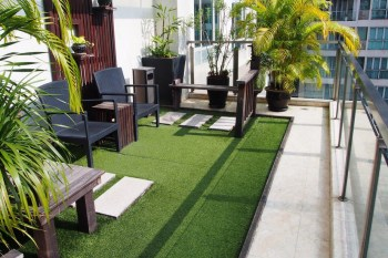 Green modern rooftop area