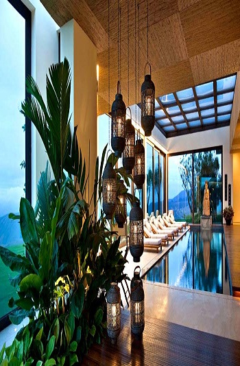 Sculptural lighthing and paper lanterns Irresistible Tips To Create Delightful Asian Inspired Interior Design