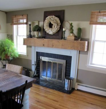 Simple-farmhouse-mantel