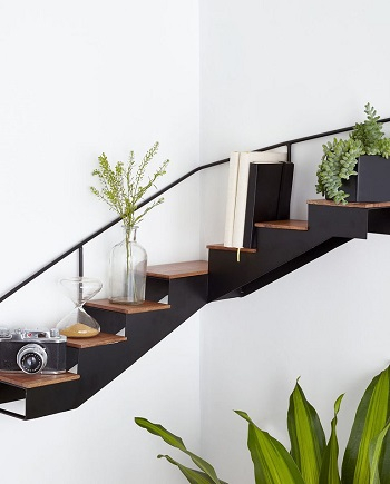 Staircase corner shelf Transformable Pieces As Smart Furniture To Make Your Living Feel Larger Than Life