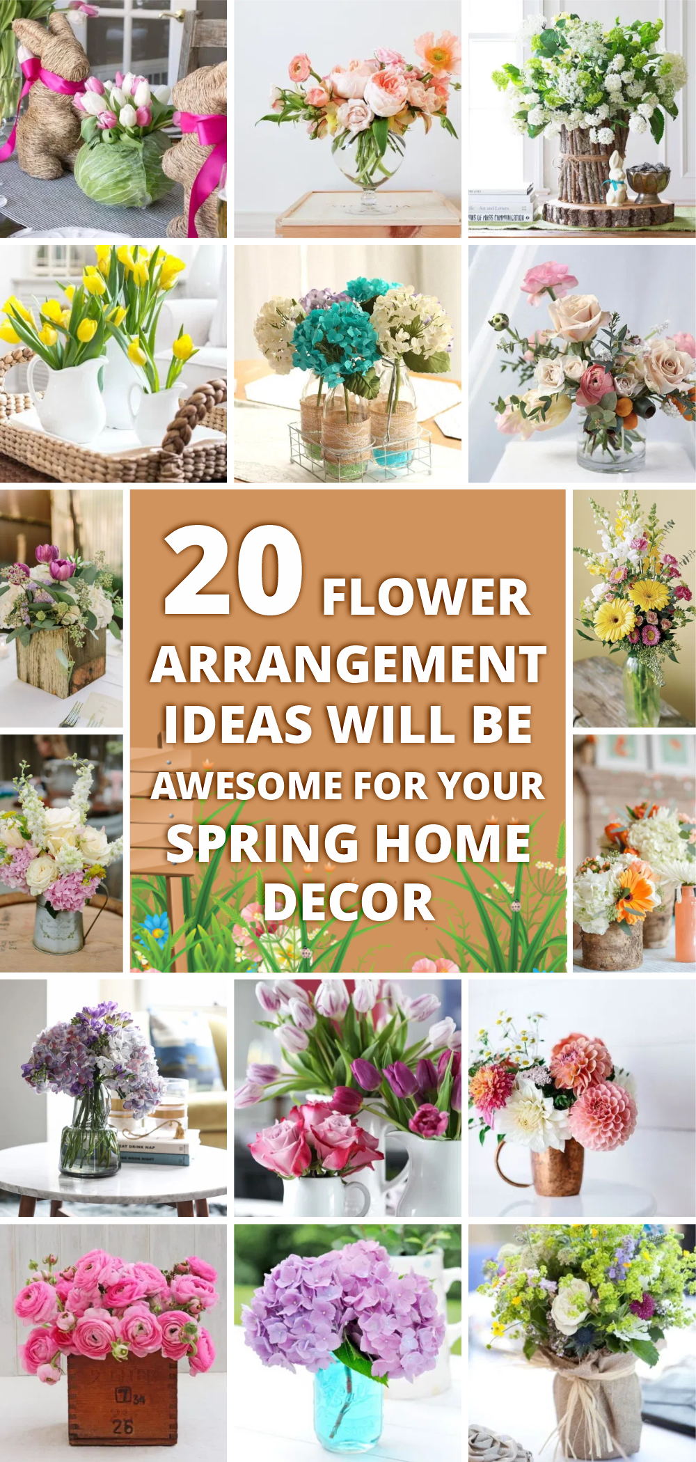 These 20 flower arrangement ideas will be awesome for your spring home decor 1