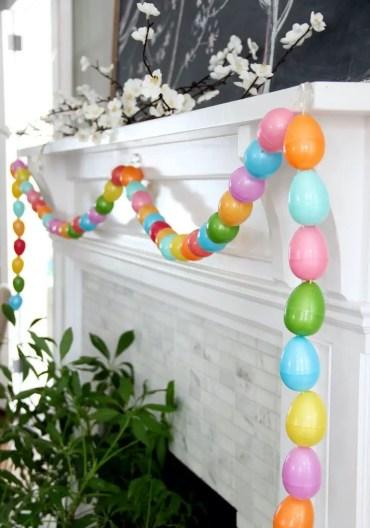 Diy-easter-egg-garland-spring-mantel